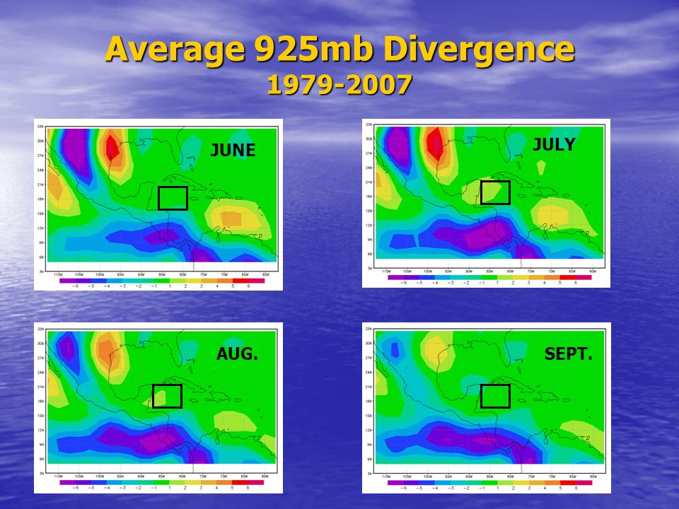 Average 925mb Divergence 1979-2007