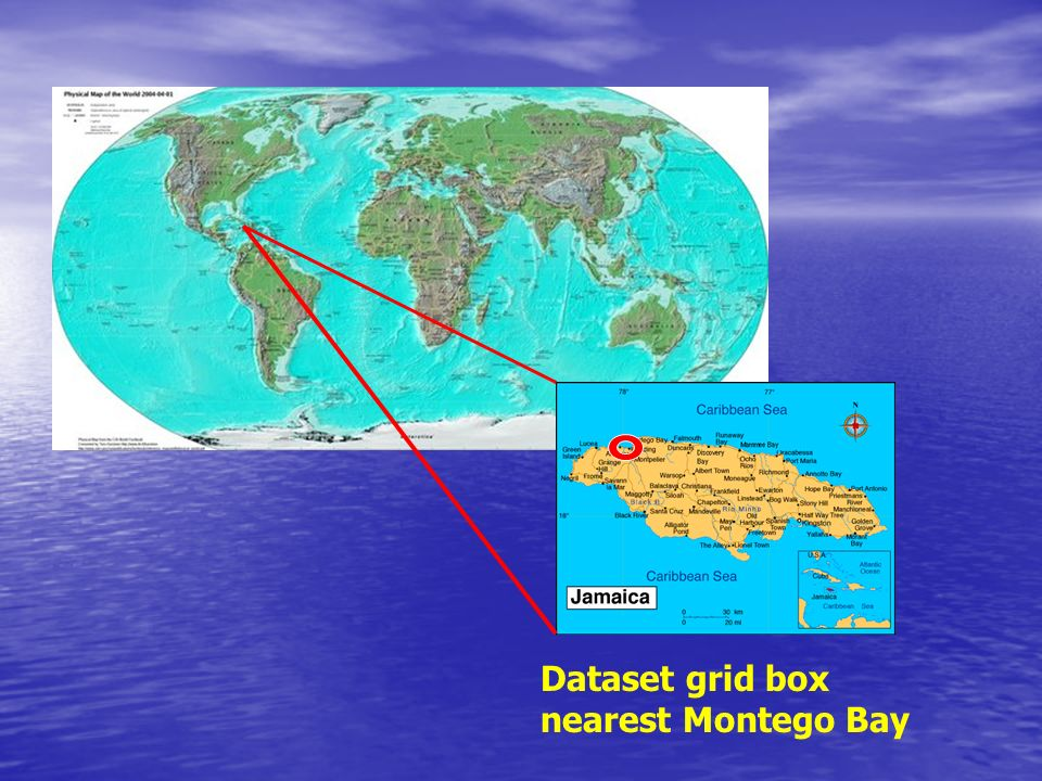 Dataset grid box nearest Montego Bay