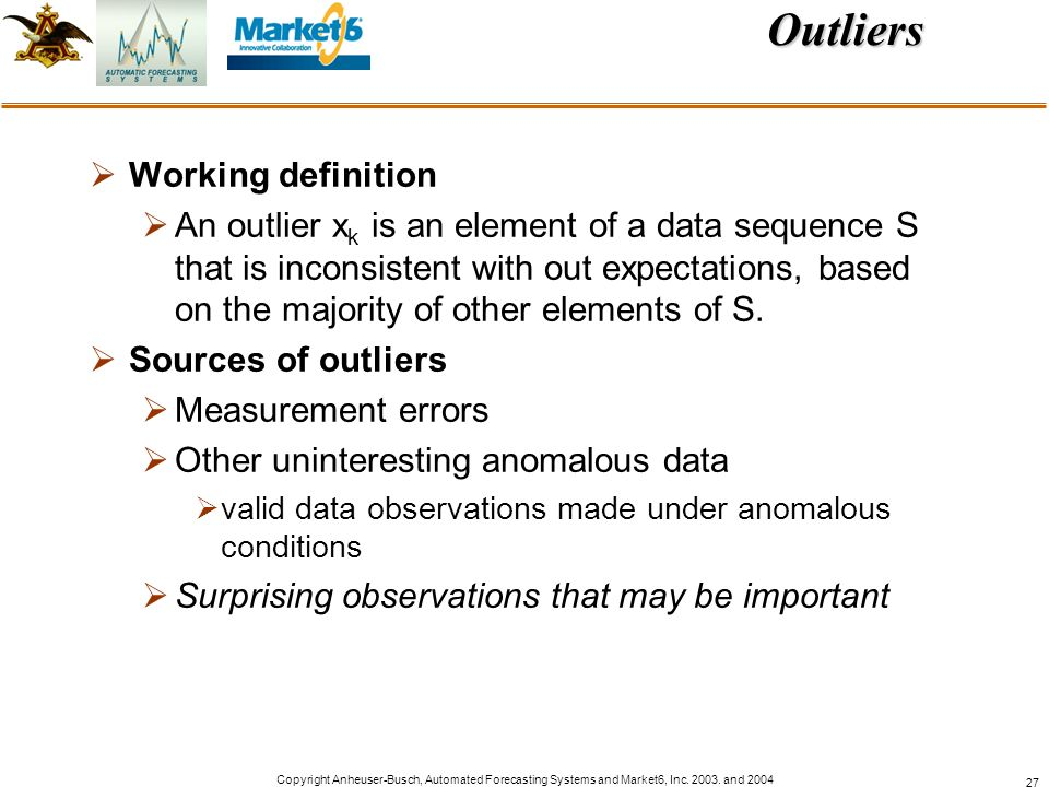 Outliers Working definition