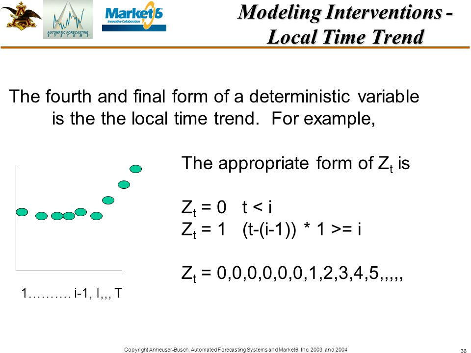 Modeling Interventions - Local Time Trend