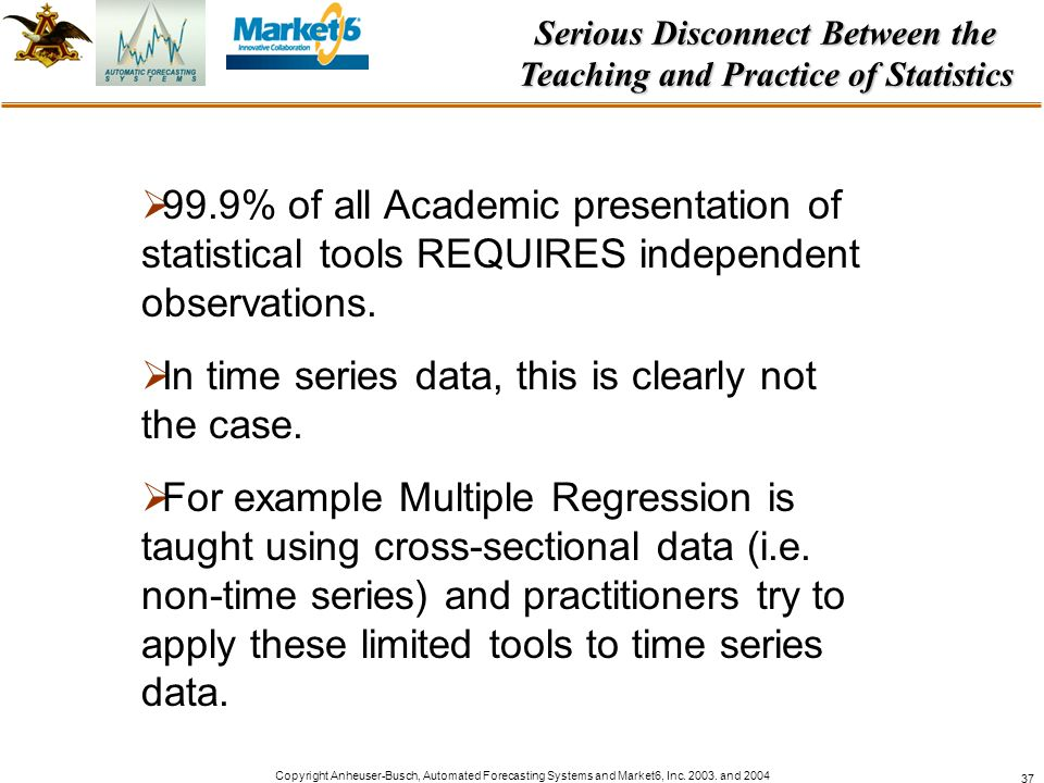 Serious Disconnect Between the Teaching and Practice of Statistics