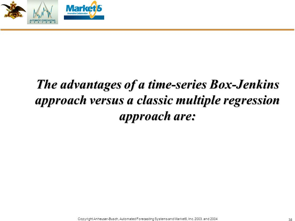 The advantages of a time-series Box-Jenkins approach versus a classic multiple regression approach are: