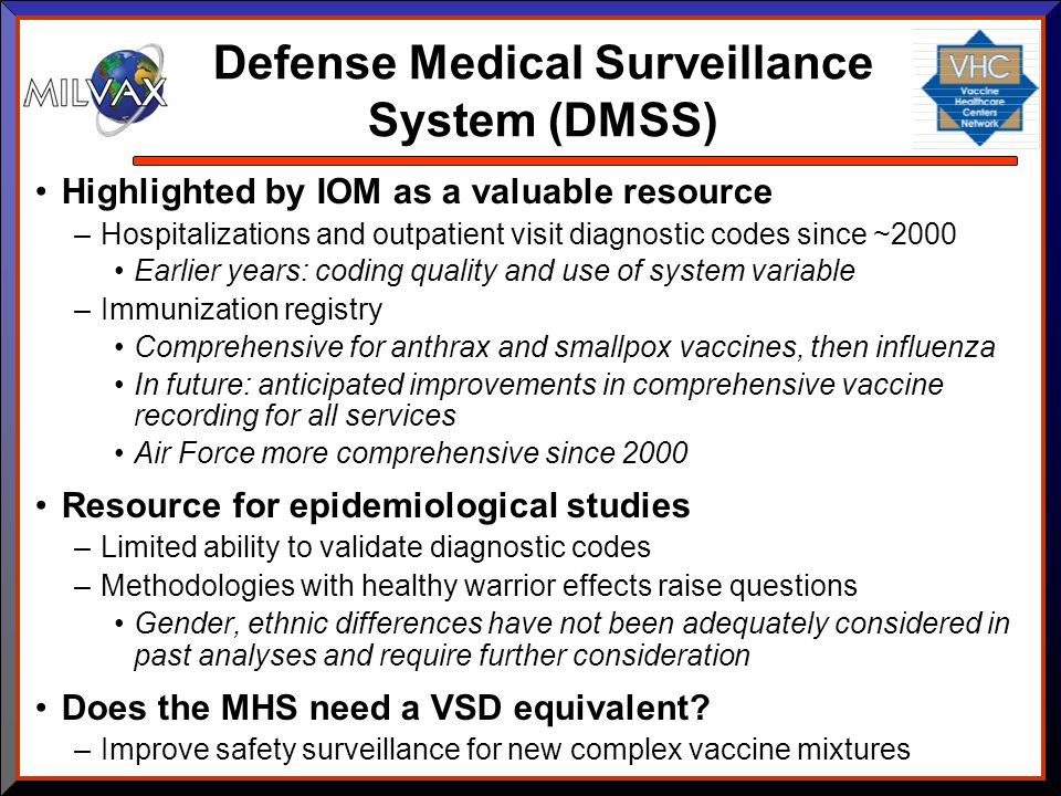 Defense Medical Surveillance System (DMSS)