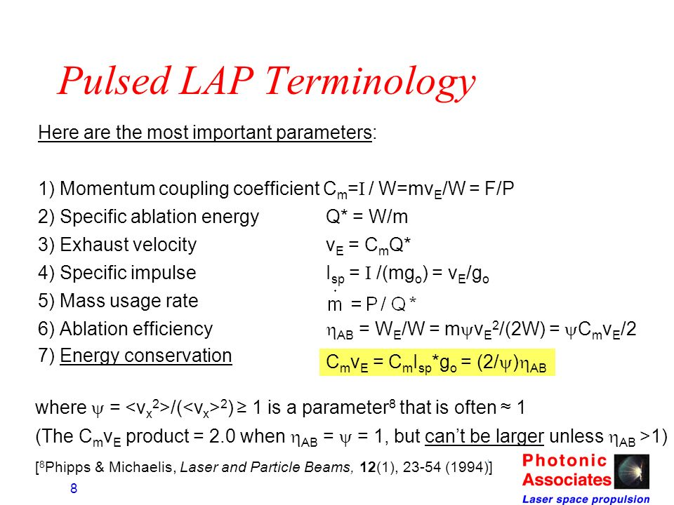 Pulsed LAP Terminology