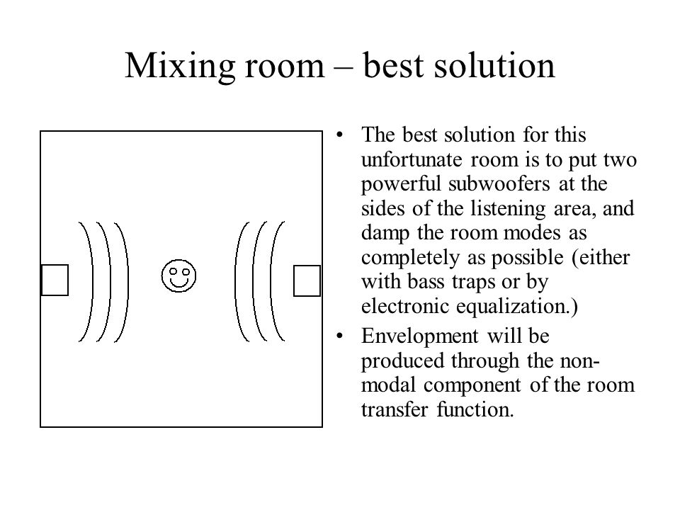 Mixing room – best solution