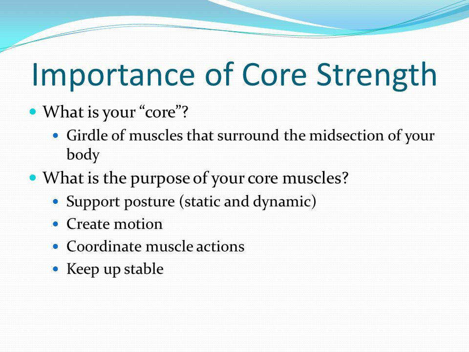 Importance of Core Strength