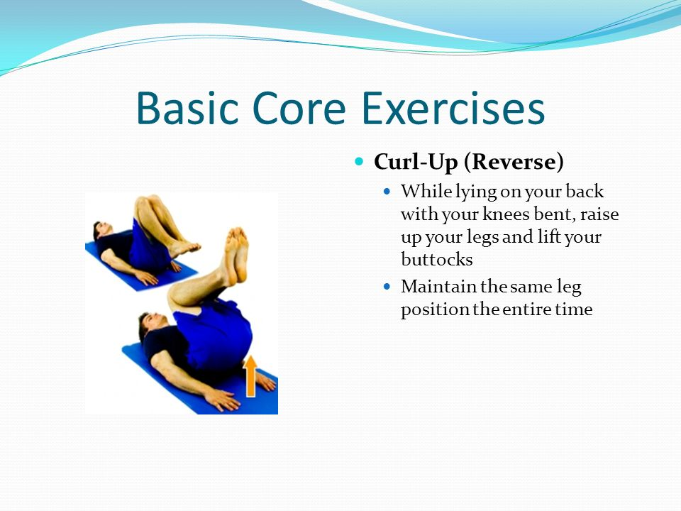 Basic Core Exercises Curl-Up (Reverse)