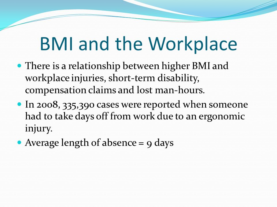 BMI and the Workplace