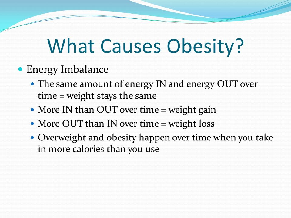 What Causes Obesity Energy Imbalance