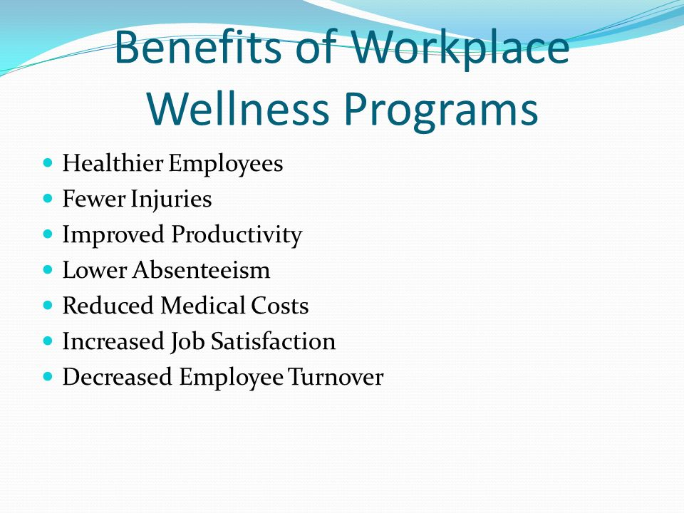 Benefits of Workplace Wellness Programs