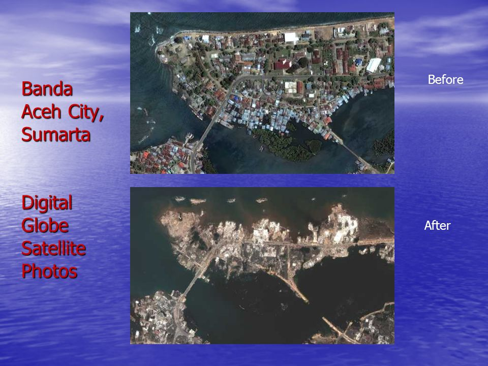 Banda Aceh City, Sumarta Digital Globe Satellite Photos