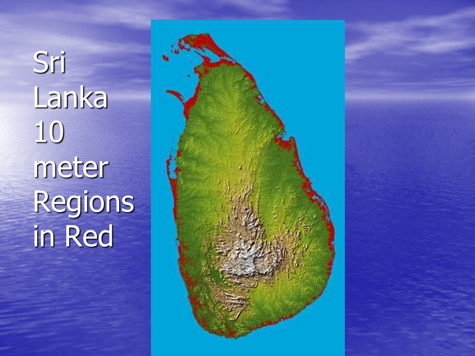 Sri Lanka 10 meter Regions in Red