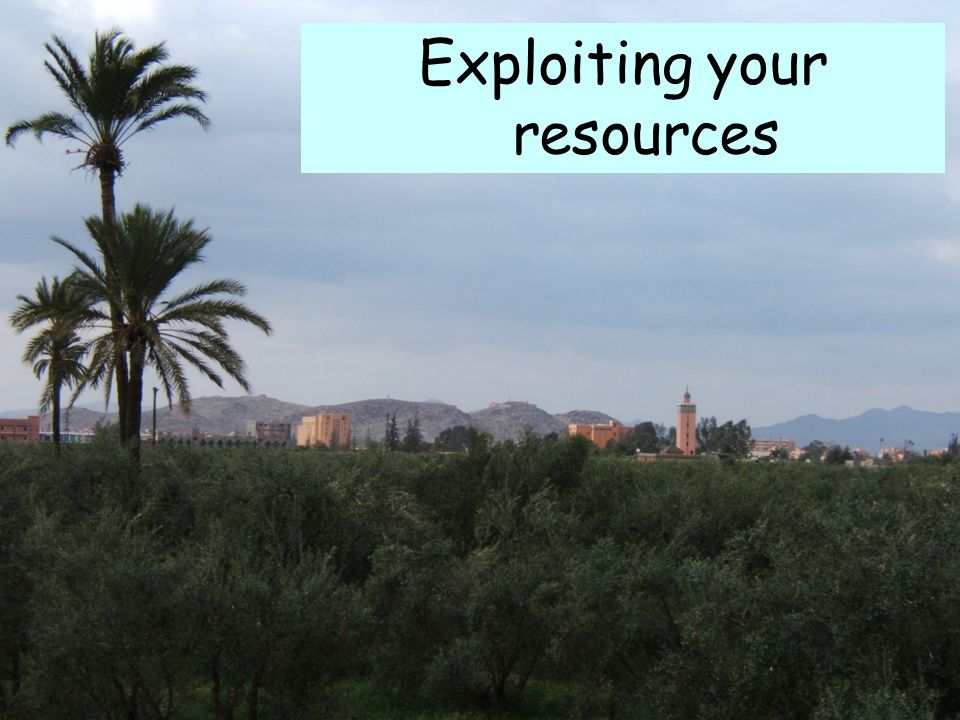 Exploiting your resources