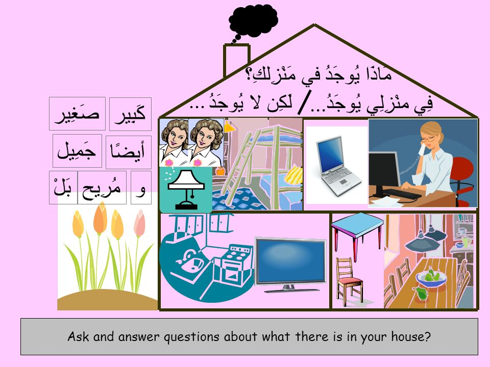 Ask and answer questions about what there is in your house