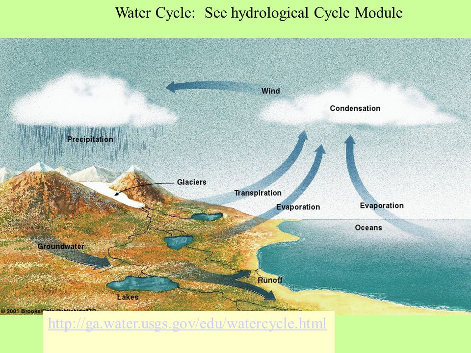 Water Cycle: See hydrological Cycle Module