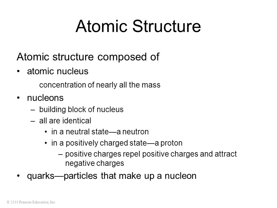 Atomic Structure Atomic structure composed of atomic nucleus