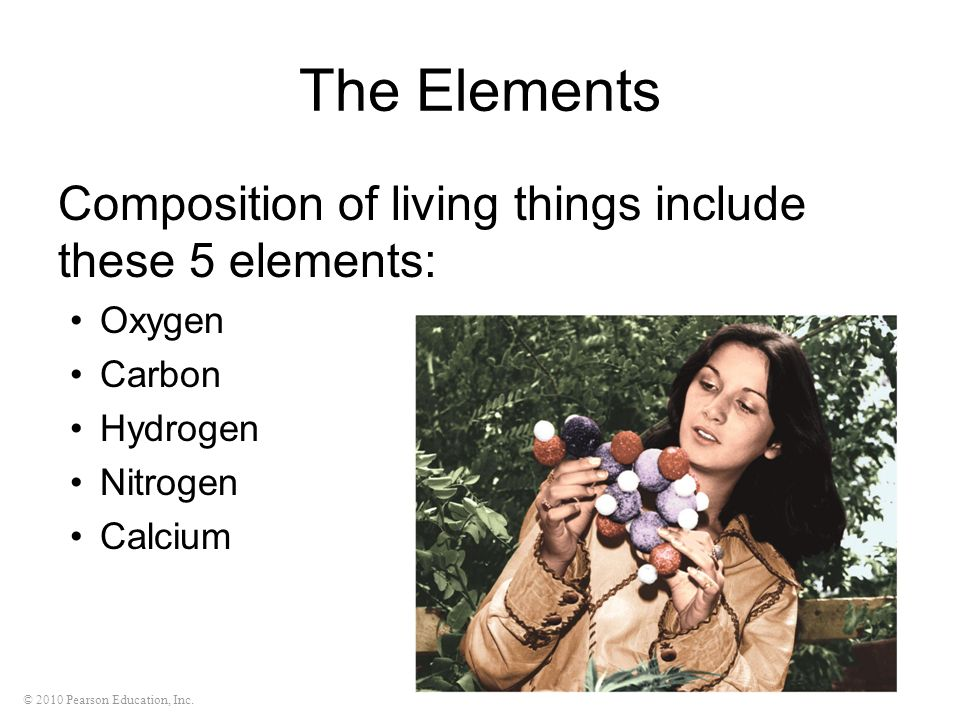 The Elements Composition of living things include these 5 elements: