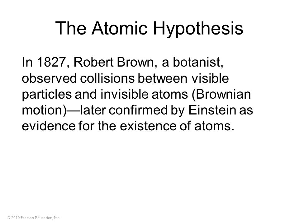 The Atomic Hypothesis