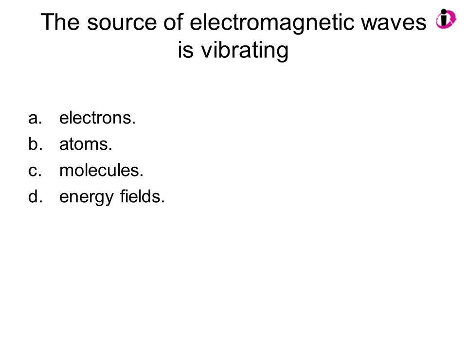 The source of electromagnetic waves is vibrating