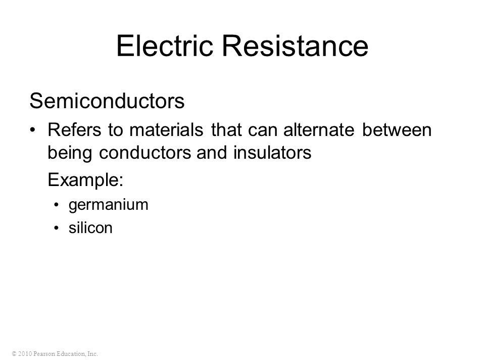 Electric Resistance Semiconductors