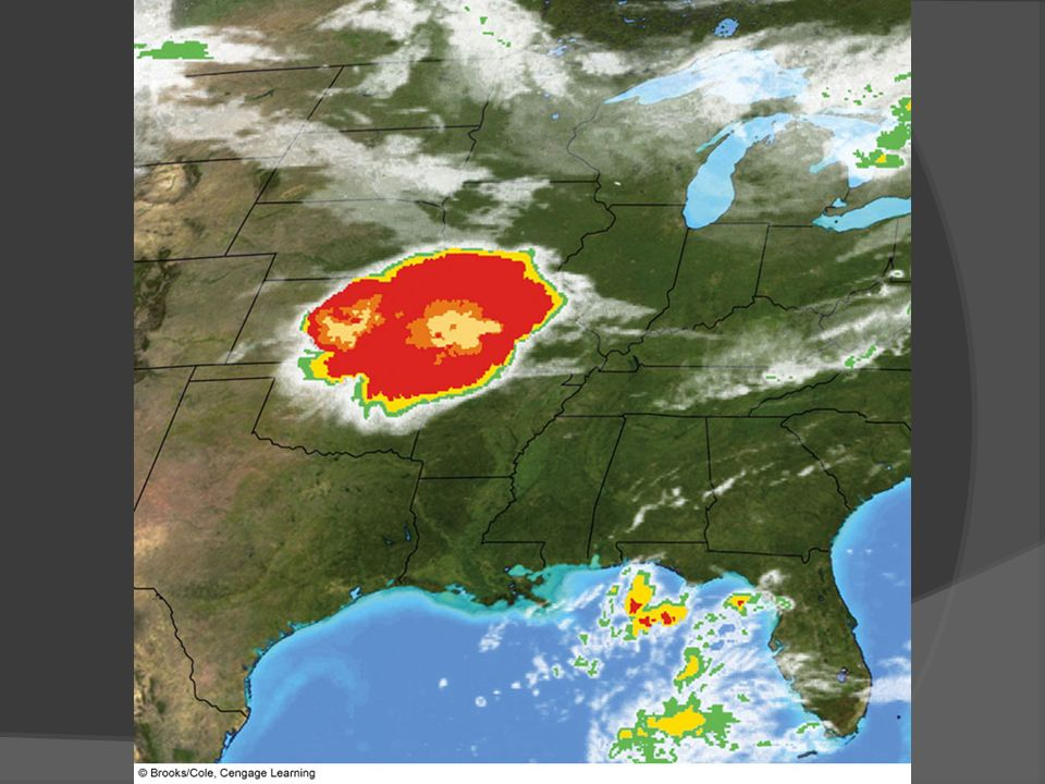 FIGURE An enhanced infrared satellite image showing