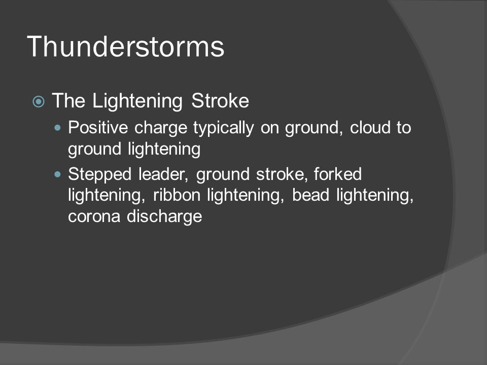 Thunderstorms The Lightening Stroke
