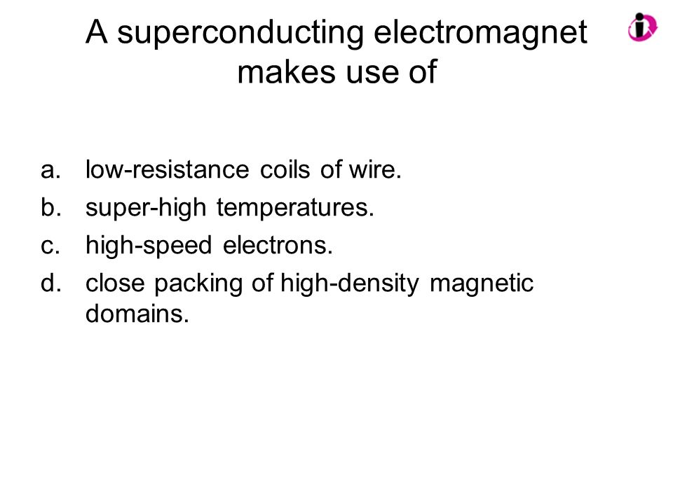 A superconducting electromagnet makes use of