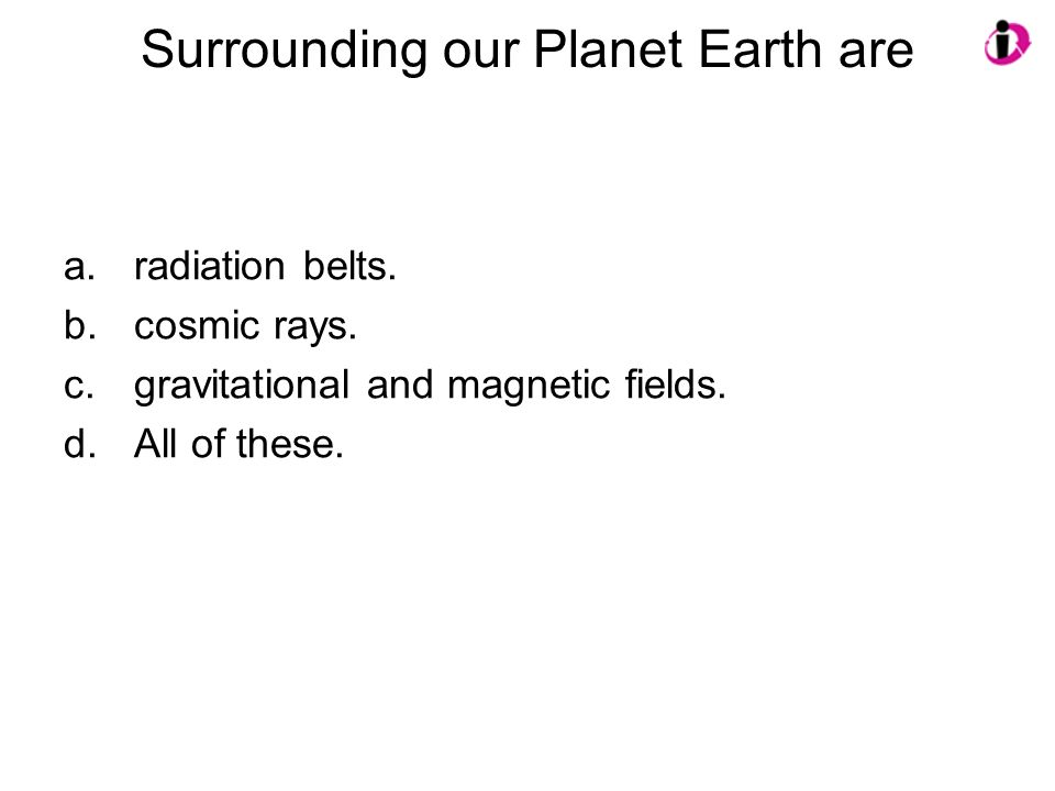 Surrounding our Planet Earth are