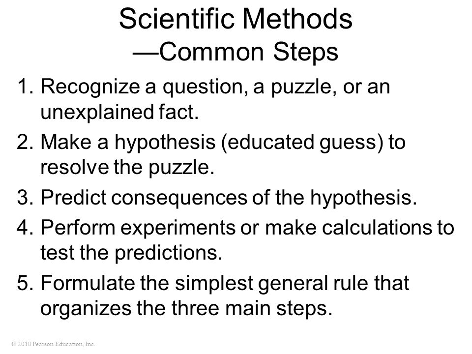 Scientific Methods —Common Steps