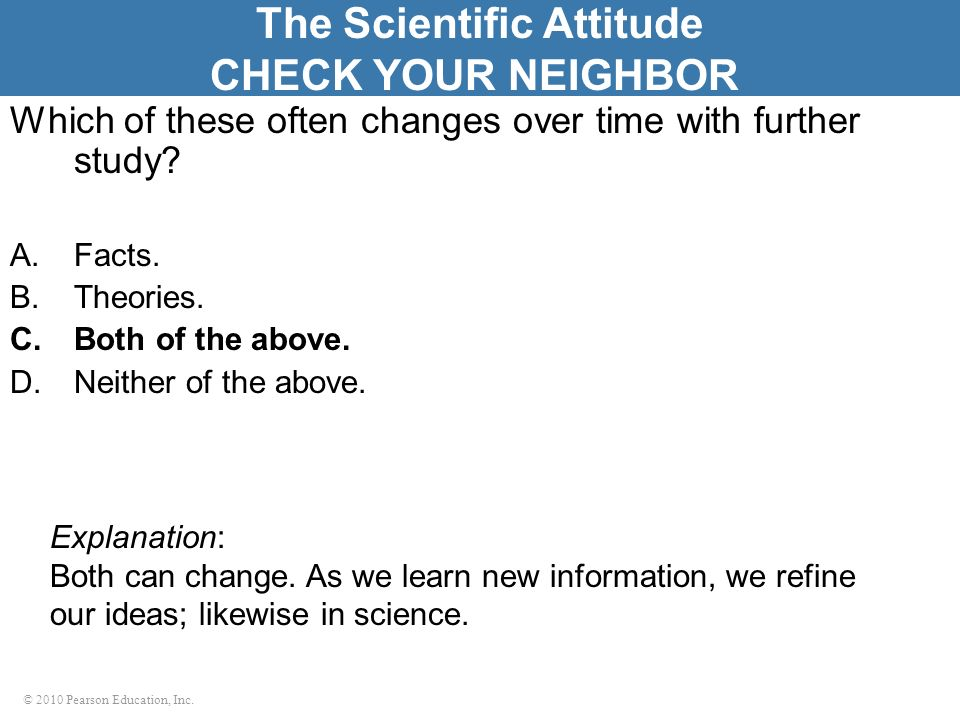 The Scientific Attitude