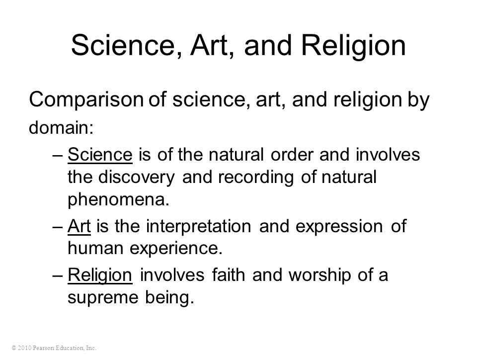 Science, Art, and Religion