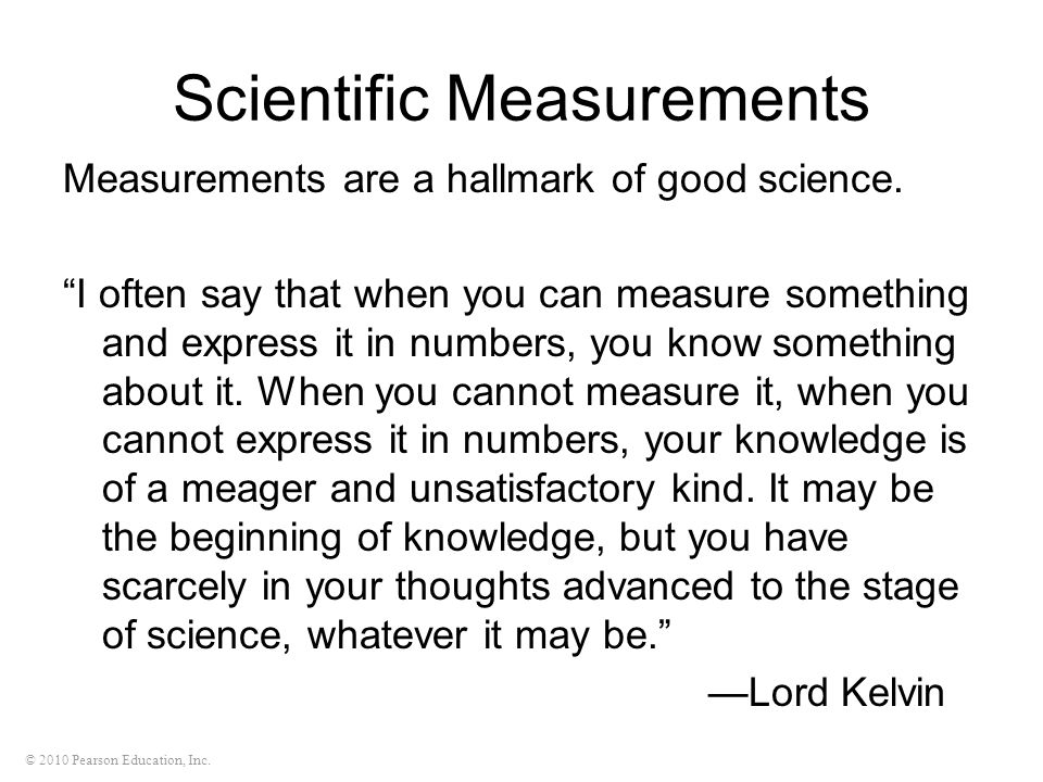 Scientific Measurements