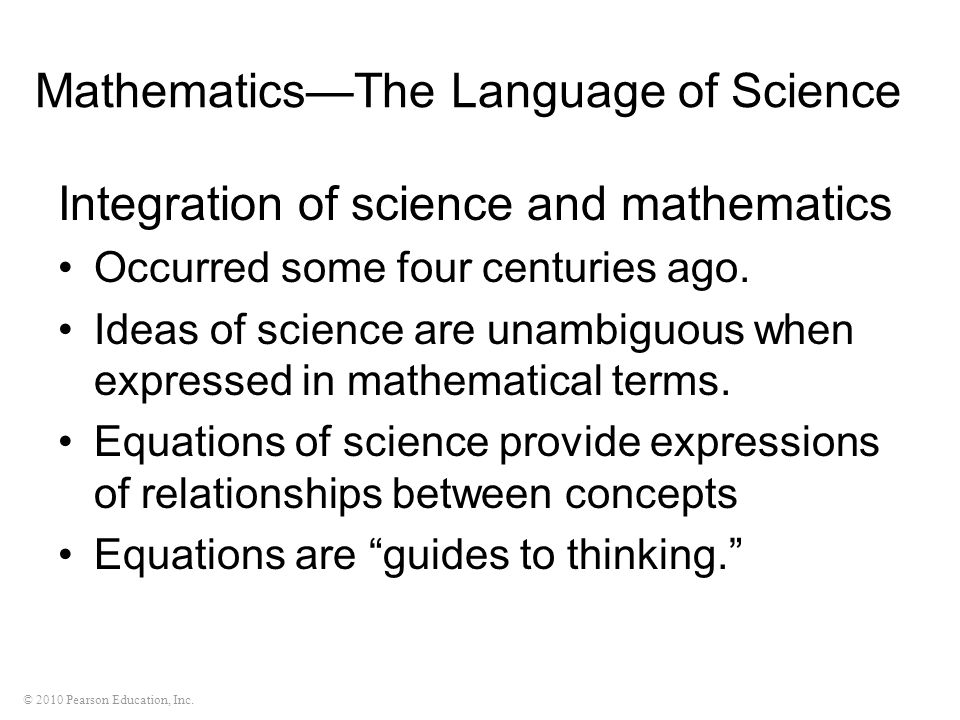 Mathematics—The Language of Science