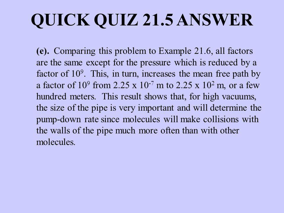 QUICK QUIZ 21.5 ANSWER