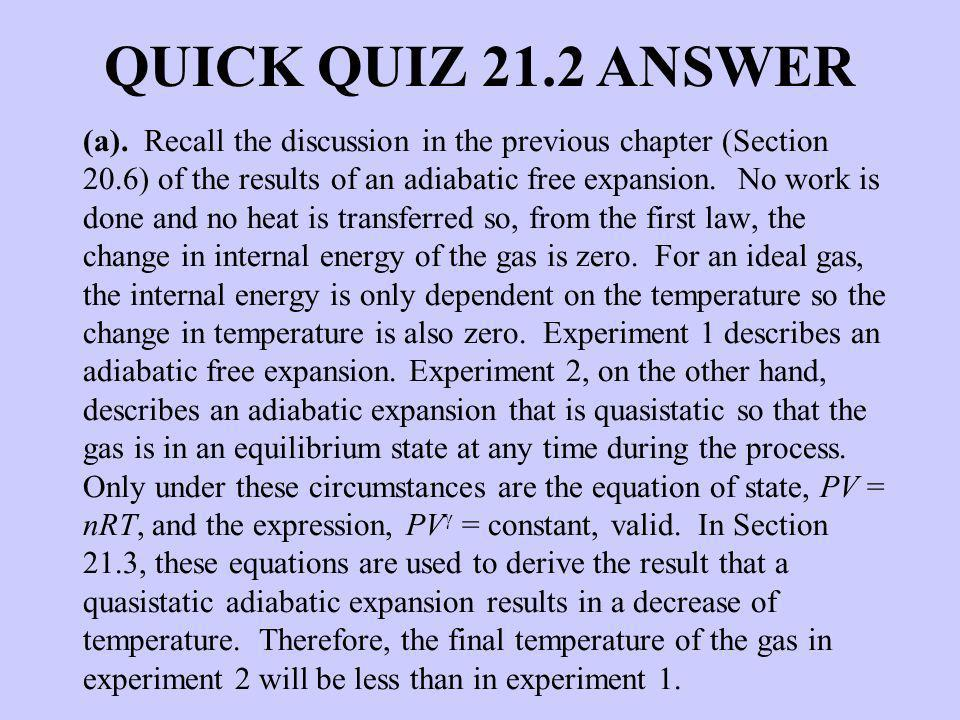QUICK QUIZ 21.2 ANSWER