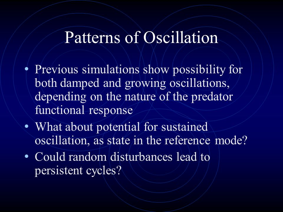 Patterns of Oscillation
