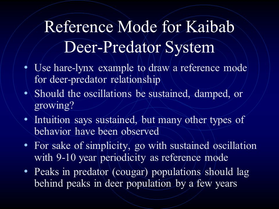 Reference Mode for Kaibab Deer-Predator System