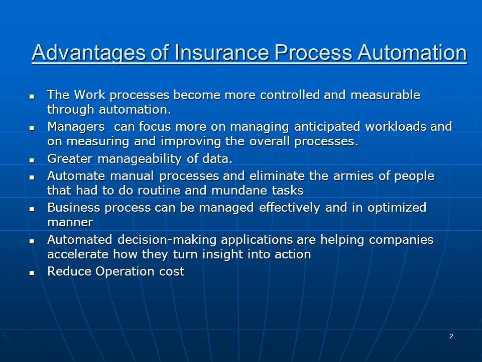 Advantages of Insurance Process Automation