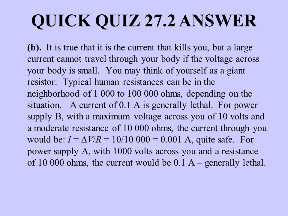 QUICK QUIZ 27.2 ANSWER
