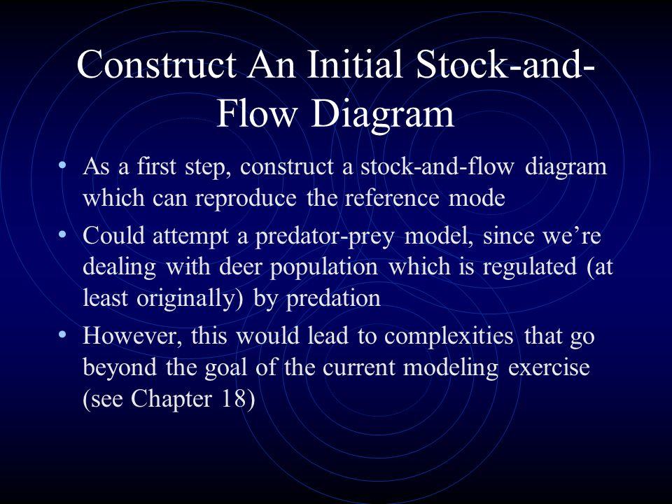 Construct An Initial Stock-and-Flow Diagram