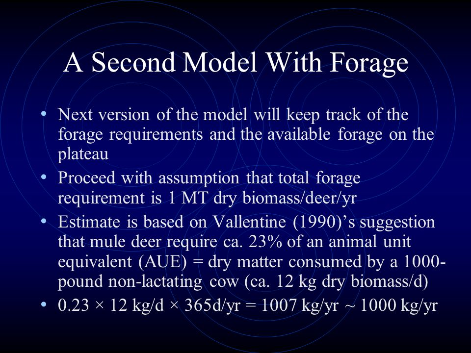 A Second Model With Forage