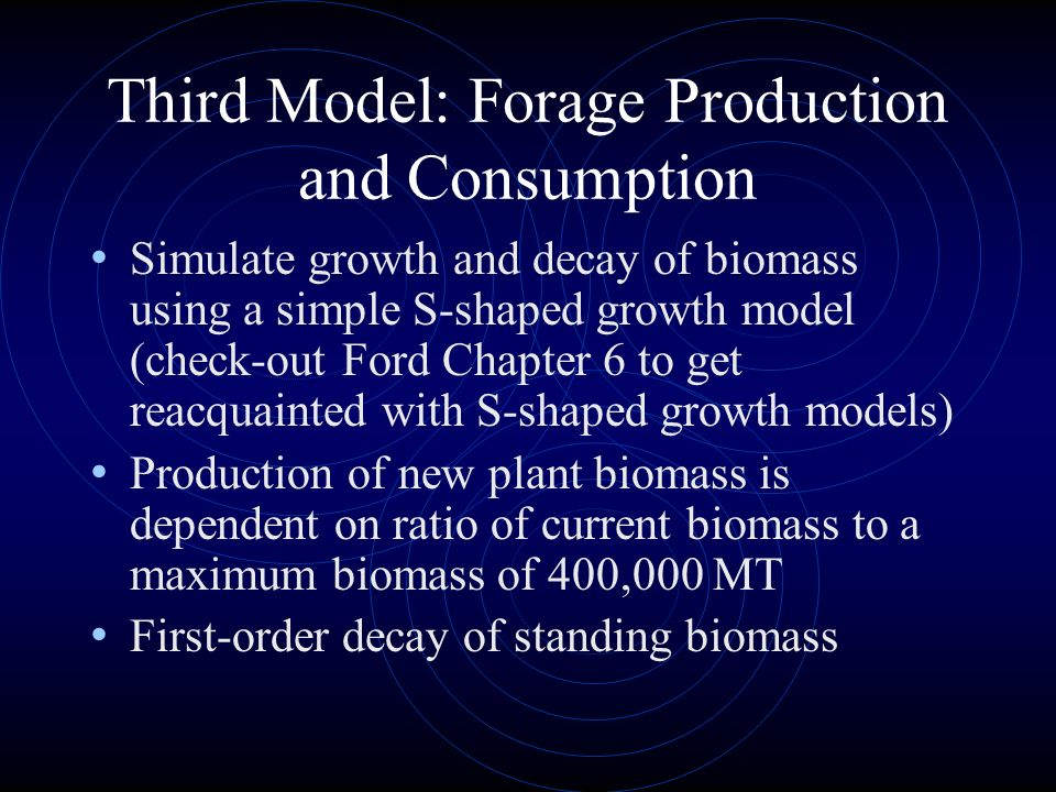 Third Model: Forage Production and Consumption