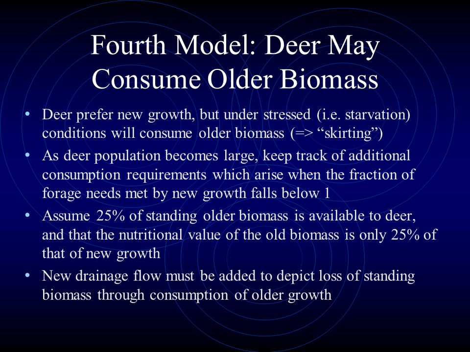 Fourth Model: Deer May Consume Older Biomass