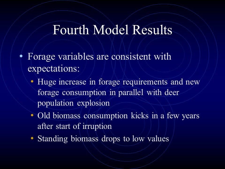 Fourth Model Results Forage variables are consistent with expectations: