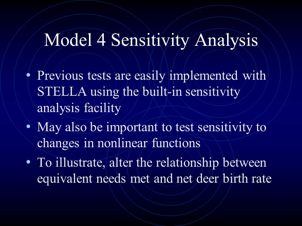 Model 4 Sensitivity Analysis