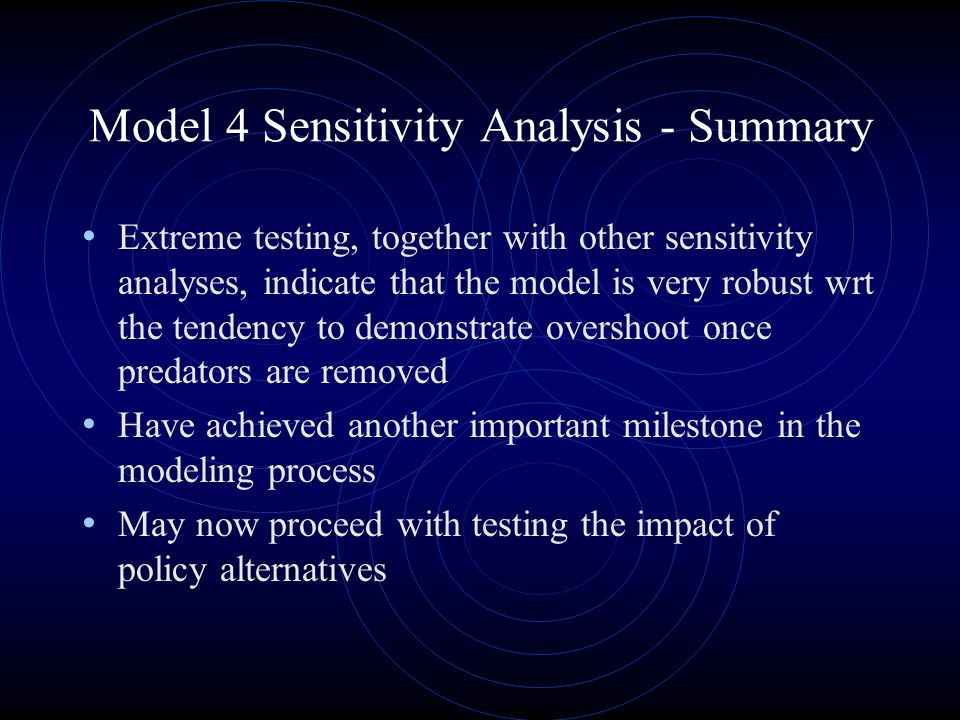 Model 4 Sensitivity Analysis - Summary