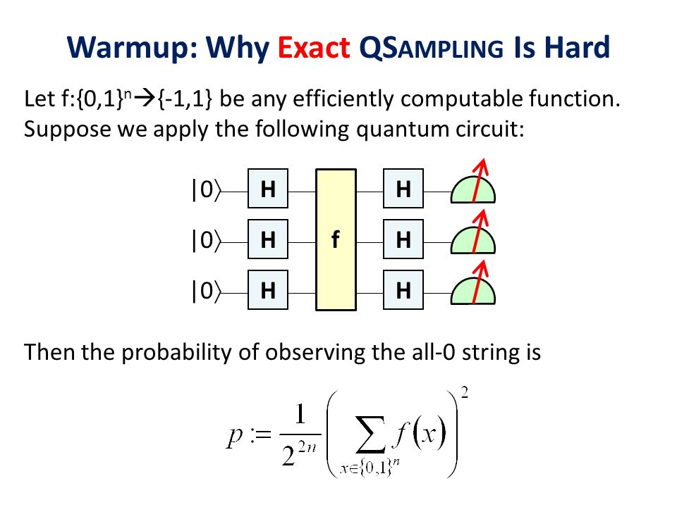 Warmup: Why Exact QSampling Is Hard