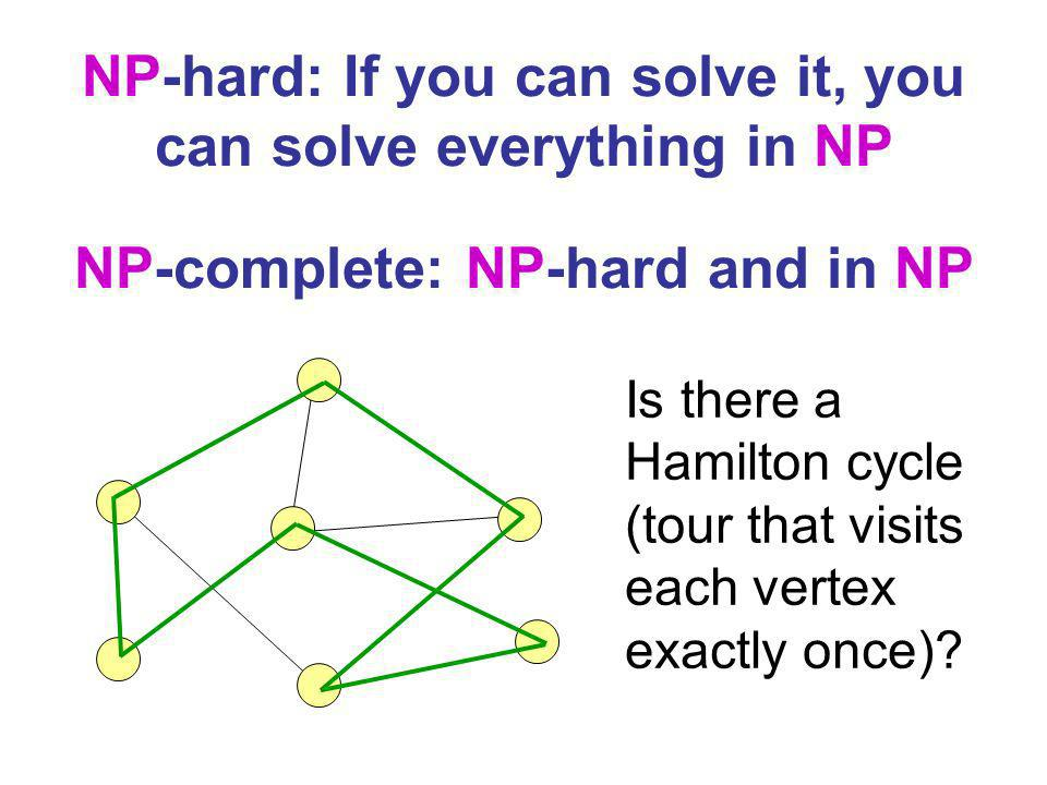 NP-hard: If you can solve it, you can solve everything in NP