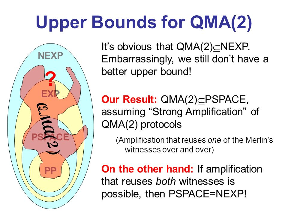 Upper Bounds for QMA(2) QMA(2)