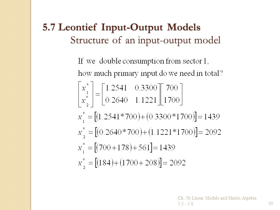leontief input output model example